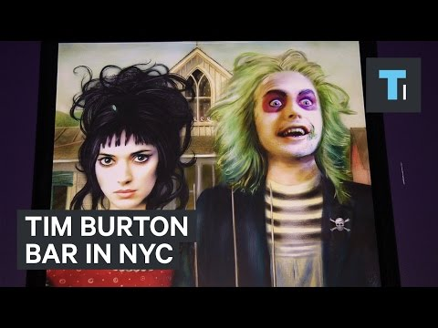 Tim Burton bar in NYC