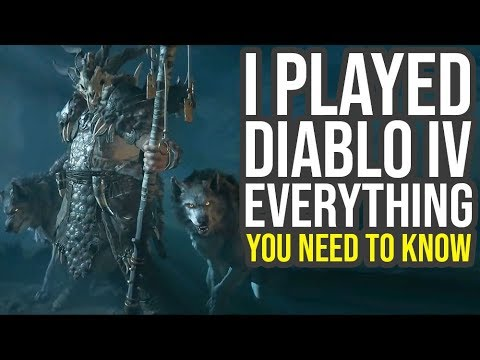 Diablo 4 Gameplay Impressions - Open World, Customization, Classes & More (Diablo IV Gameplay)