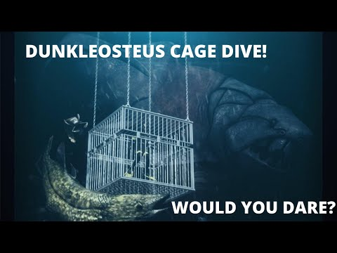 Dunkleosteus Cage Dive at Sea Monster Cove #prehistoric #theMeg #Dunkleosteus