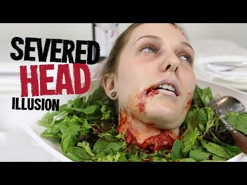 Severed head makeup - Freakmo & Powdah collab