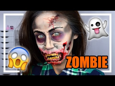 ZOMBIE HALLOWEEN MAKE UP TUTORIAL - Sheling