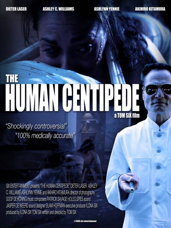 Human Centipede beste film op Screamfest