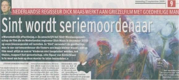 De Sint - Dick Maas - Krant Belgie