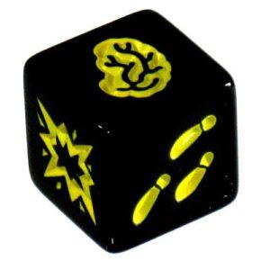 Zombie Dice - gele dobbelsteen