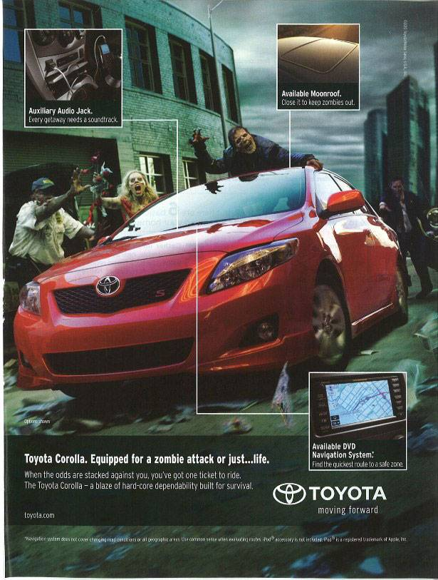 Toyota - Equipped for a zombie attack or just…life