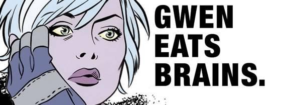 I, Zombie - Gwen eats Brains