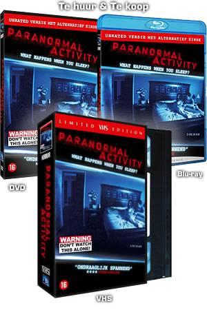 paranormal actvity dvd blueray vhs