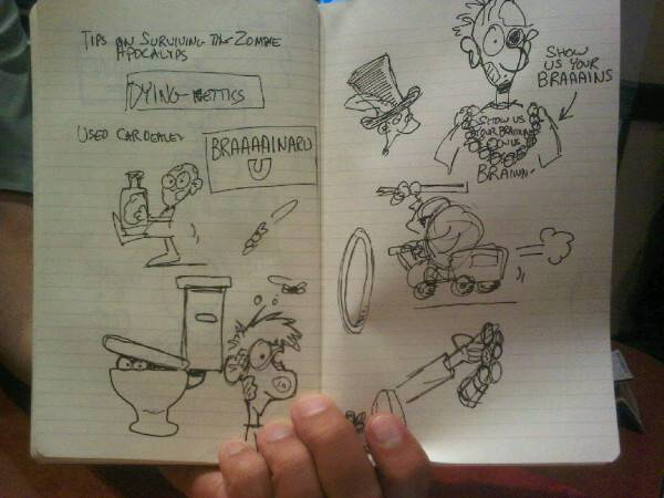 Sketches Munchkin Zombie - Steve Jackson Games