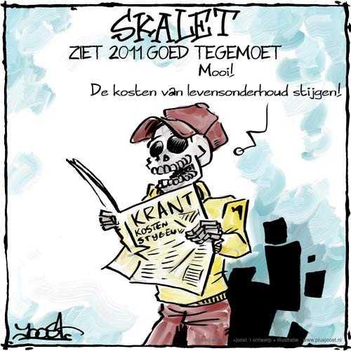 De kosten van levensonderhoud stijgen, Skalet ziet 2011 goed tegemoet