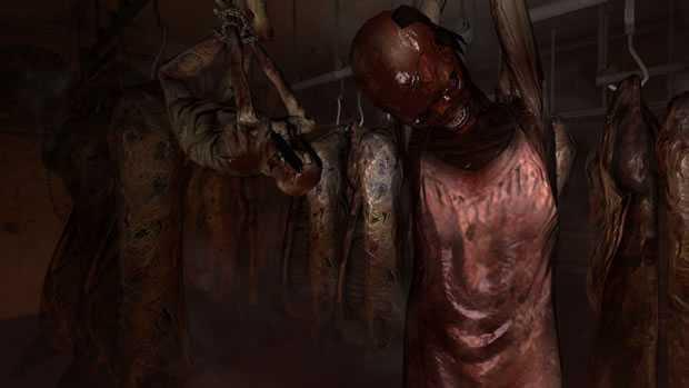 Bodies Hanging In Meat Locker