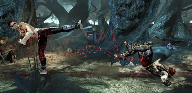 Cage Kicks Scorpion