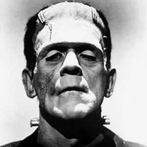Boris Karloff als het Monster van Frankenstein