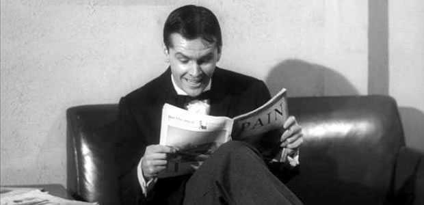 Jack Nicholson als de masochistische tandartspatient Wilbur Force in The Little Shop of Horrors.