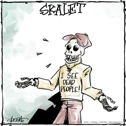 Cartoon: Wat ziet Skalet?