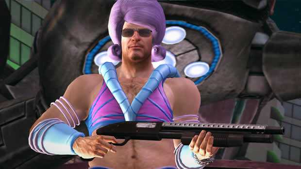 Frank West met roze pruik in Dead Rising 2 Off the record