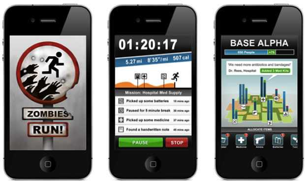 zombies run mobile Zombies, Run! hardloopapplicatie voor Android en iPhone