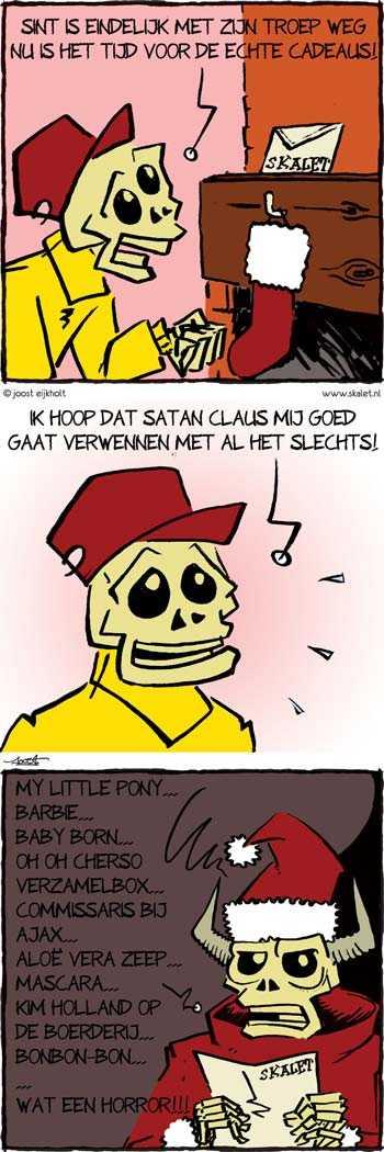 ontwerp en illustratie, cartoons en strips - Het einde van Sinterklaas