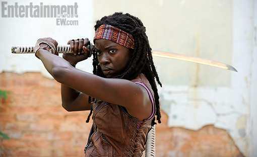 Michonne1 Een eerste blik op het derde seizoen van The Walking Dead
