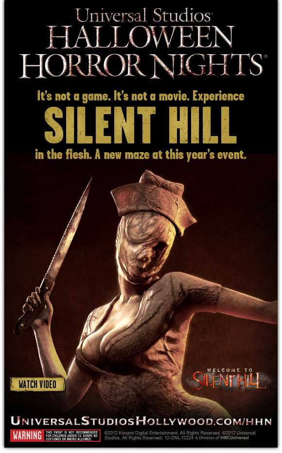 Silent Hill Nights Silent Hill komt naar de Universal Halloween Horror Nights