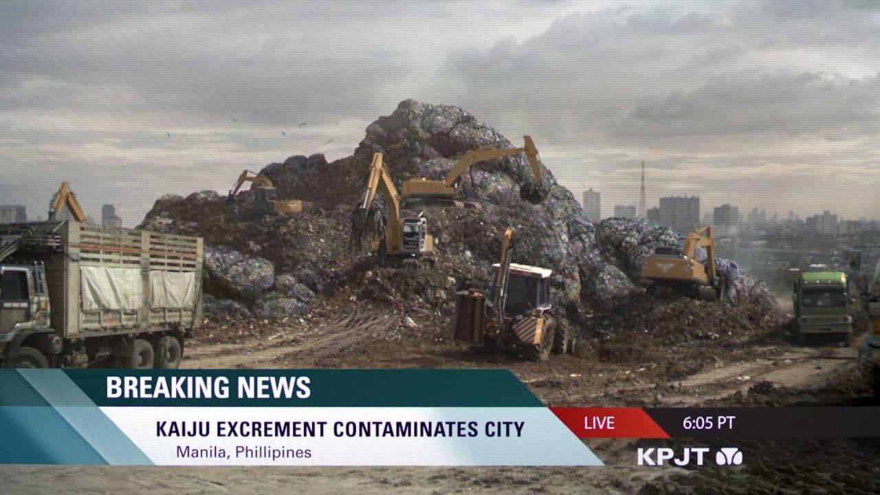Kaiju excrement contaminates city.