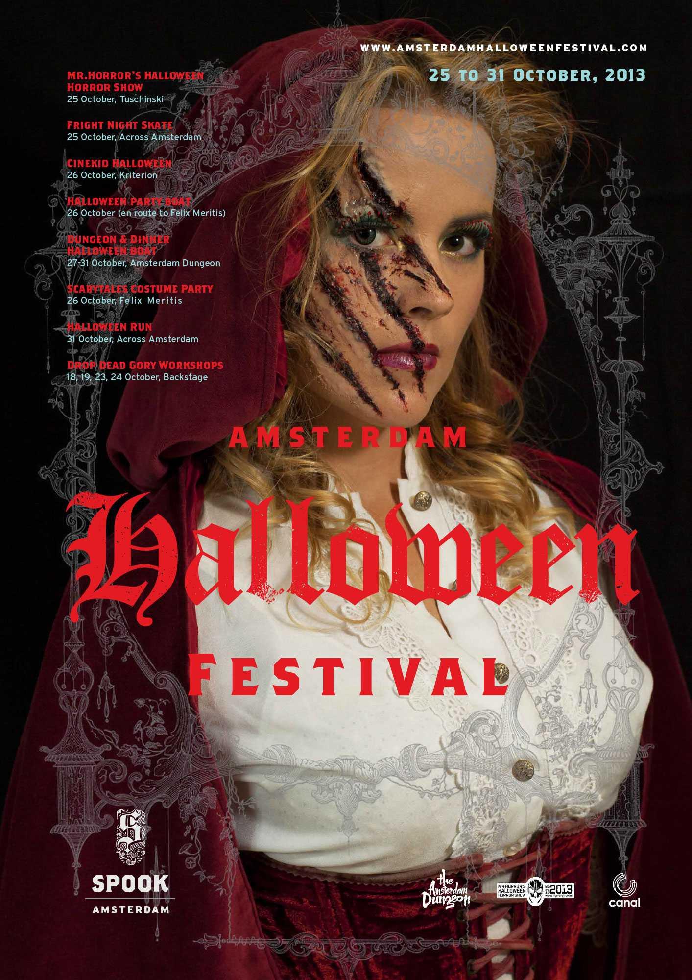 Festival Poster Amsterdam Spook Halloween Festival