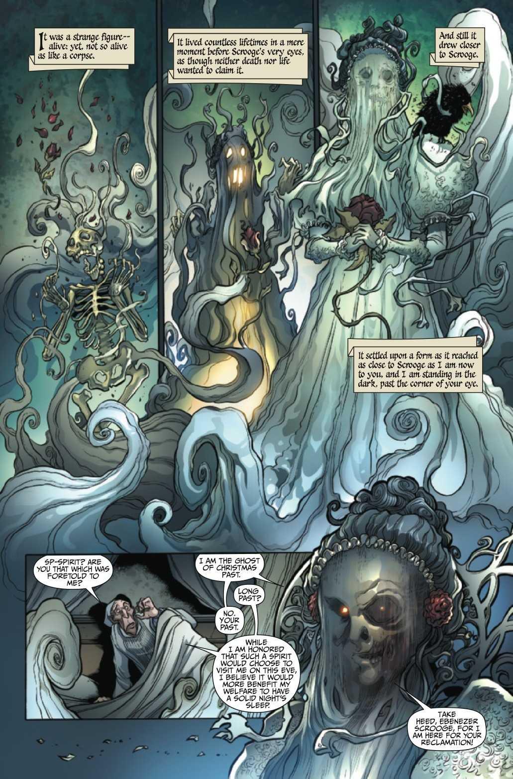 Ghost of Christmas Past getekend door David Baldoon en Jeremy Treece