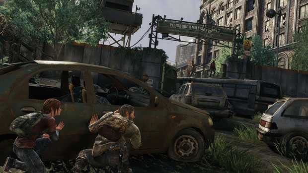 stealth through car maze in Pittsburgh_last-of-us-ps4