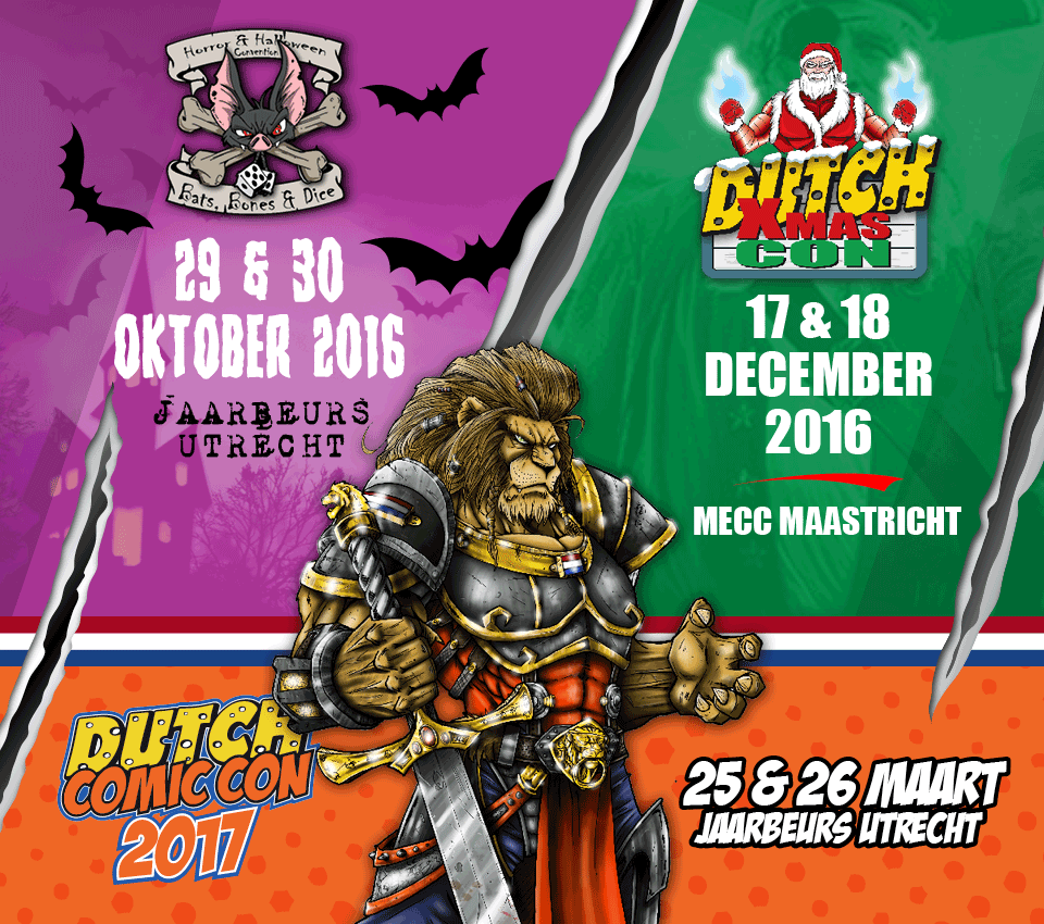 Dutch Comic Con, Bats Bones Dice, Dutch Xmas Con