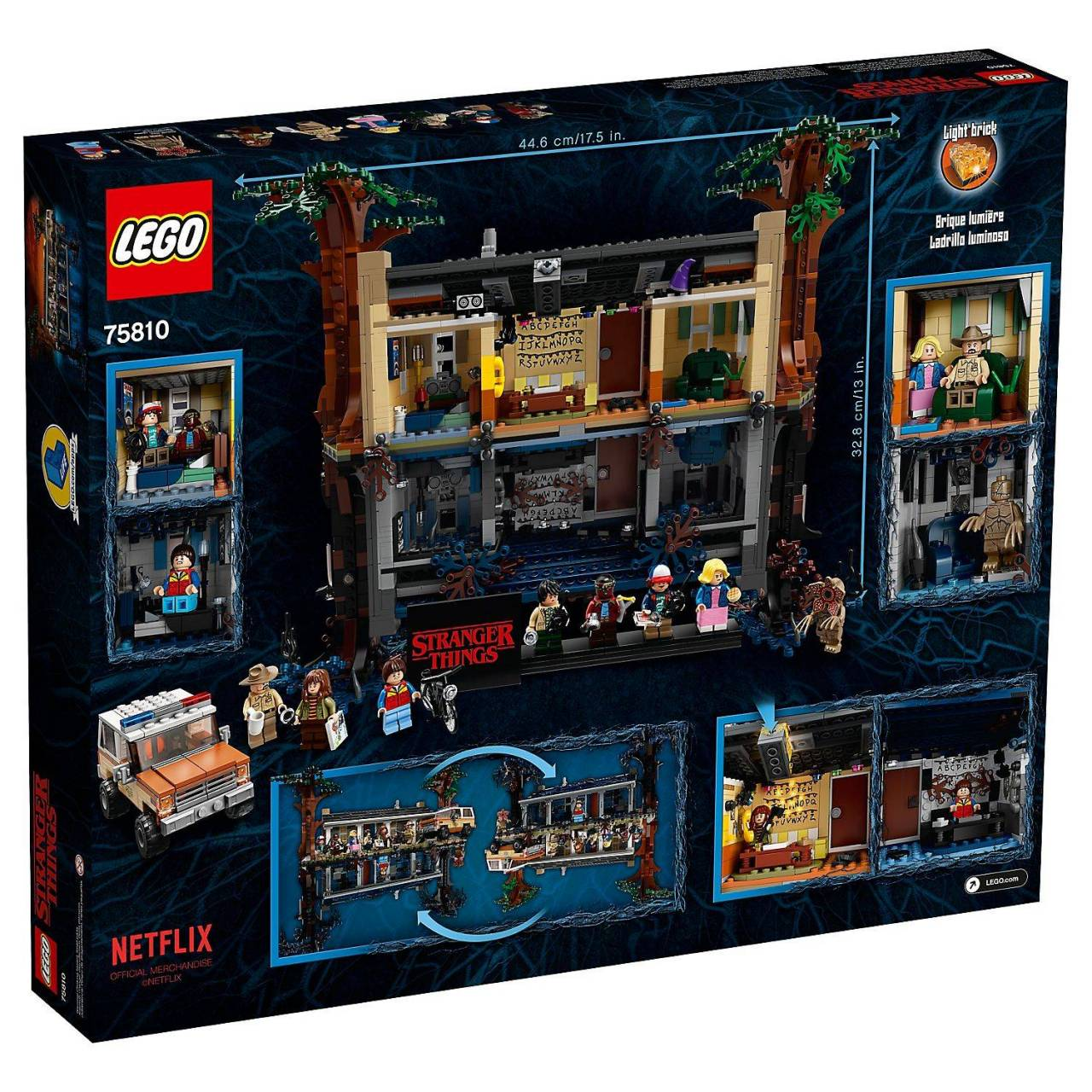 Lego Stranger Things - Complete Upside Down set (achterkant)