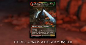 godzilla bigger monster magic the gathering