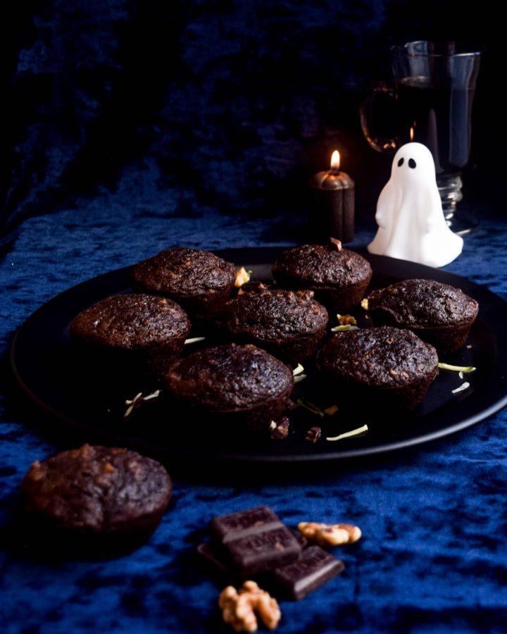 cookies on black plate